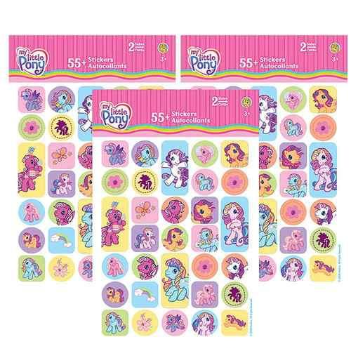 My Little Pony Sticker Set [3 Packs of 2 Sheets Ea - 55 Stickers Per Pack]