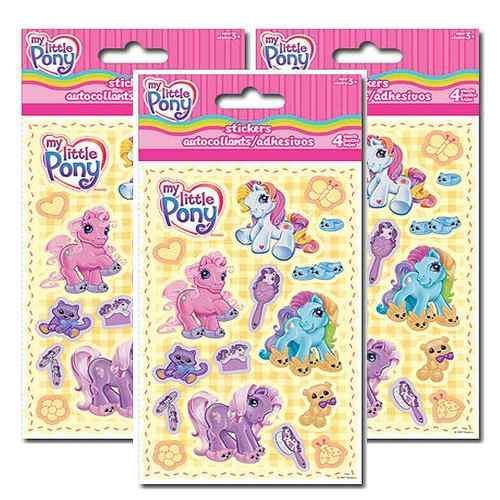 My Little Pony Sticker Set [3 Packs of 4 Sheets Ea]