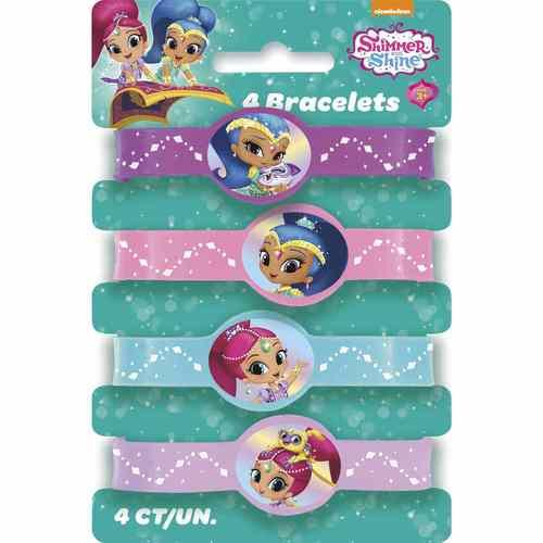 Shimmer and Shine Stretchy Bracelets [4 per Pack]