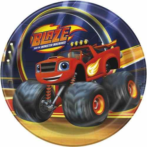 Blaze and the Monster Machines 7 Inch Dessert Plates [8 per Pack]