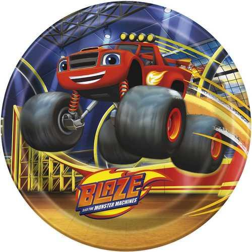 Blaze and the Monster Machines 9 Inch Dinner Plates [8 per Pack]