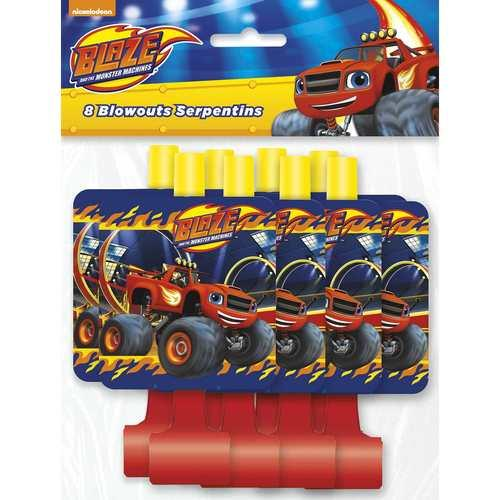 Blaze and the Monster Machines Party Blowouts [8 per Pack]