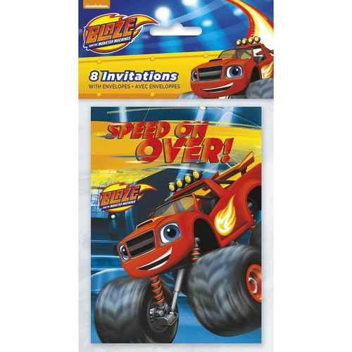 Blaze and the Monster Machines Party Invitations [8 per Pack]