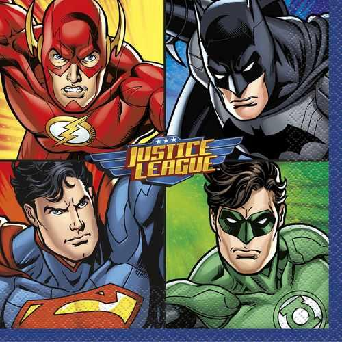 Justice League Luncheon Napkins [16 per Pack]