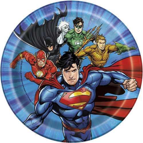 Justice League 7 Inch Dessert Plates [8 per Pack]