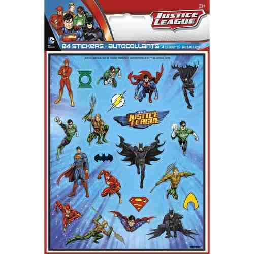 Justice League Sticker Sheets [4 per Pack]