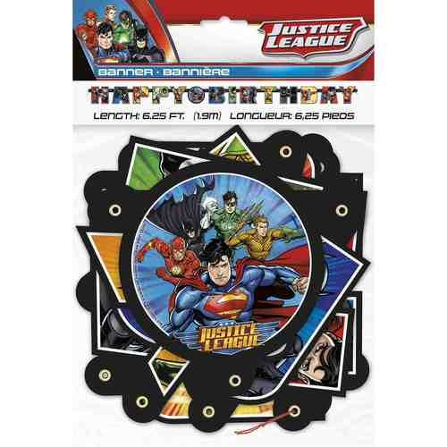 Justice League Jointed Birthday Banner