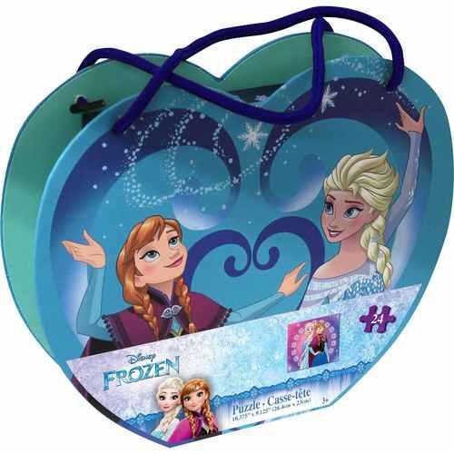 Disney Frozen 48-Piece Puzzle in Heart-Shaped Box