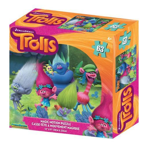 Trolls 63 Piece Lenticular Puzzle