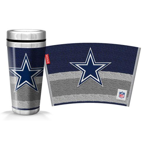 NFL Dallas Cowboys 16oz. White Stainless Steel Huntsville Travel Mug