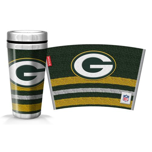 NFL Green Bay Packers 16oz. Woolie Travel Mug Full Wrap