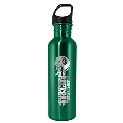 NFL Green Bay Packers 26oz Lasered Green Stainless Steel Water  Bottle