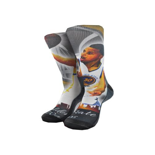 NBA Golden State Warriors Crew Socks 1 Pair - Stephen Curry #30 (Large)