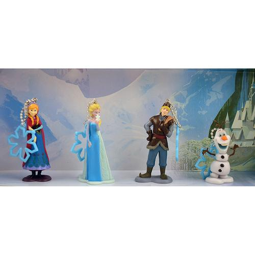 Disney Frozen 4 Piece Keychain Set [Anna Elsa Kristoff Olaf]