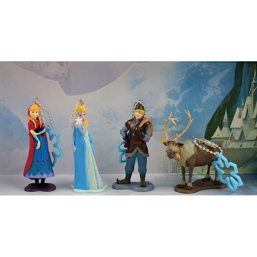 Disney Frozen 4 Piece Keychain Set [Anna Elsa Kristoff Sven]