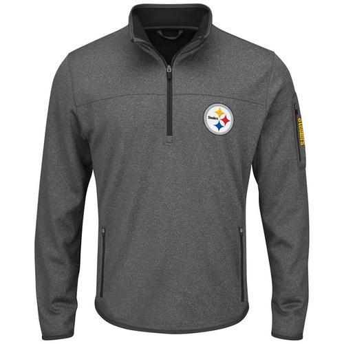NFL Pittsburgh Steelers Half-Zip Pull Over - Medium