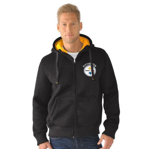 NFL Pittsburgh Steelers Full Zip Sherpa Jacket - Large