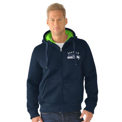 NFL Seattle Seahawks Full Zip Sherpa Jacket - Medium