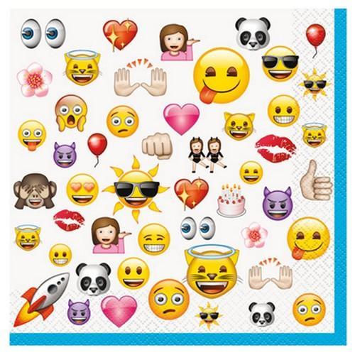 Emoji Luncheon Napkins [16 per Pack]