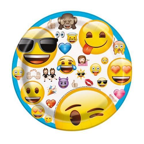 Emoji 7 Inch Dessert Plates [8 per Pack]