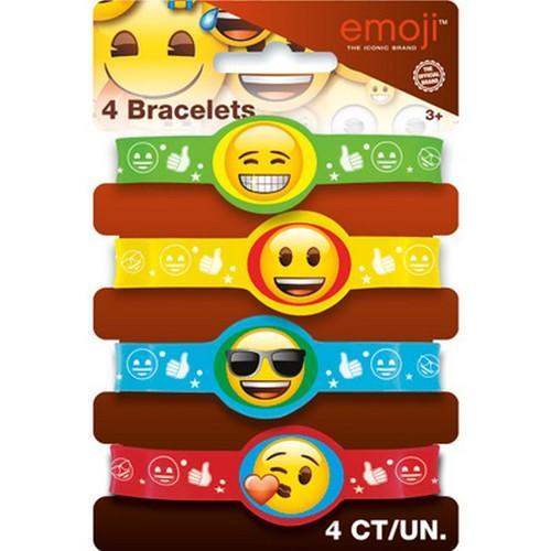Emoji Stretchy Bracelets [4 per Pack]