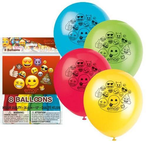 Emoji Latex Balloons [8 per Pack]