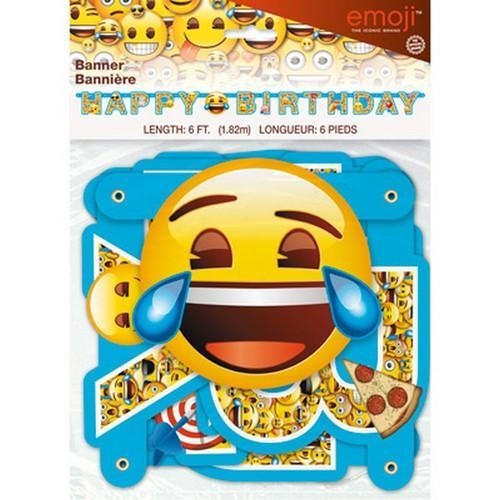 Emoji Jointed Birthday Banner