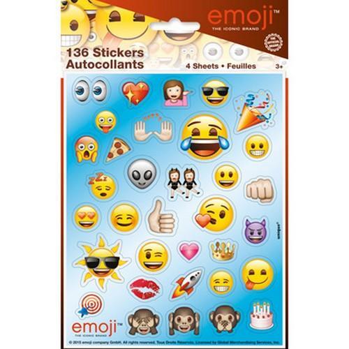 Emoji Sticker Sheets [4 per Pack]