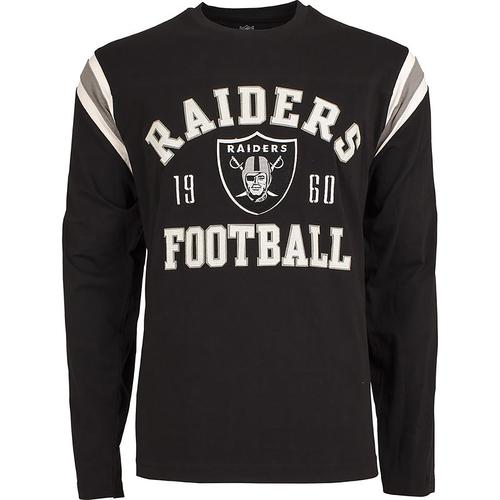NFL Lateral Long Sleeve Tee Mens - Oakland Raiders - Medium