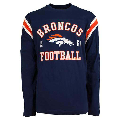 Denver Broncos NFL Lateral Felt Applique Long Sleeve Jersey T-Shirt - XX-Large