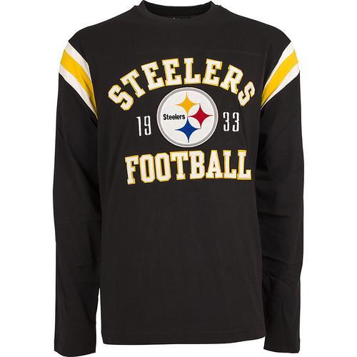 NFL Lateral Long Sleeve Tee Mens - Pittsburgh Steelers - Medium