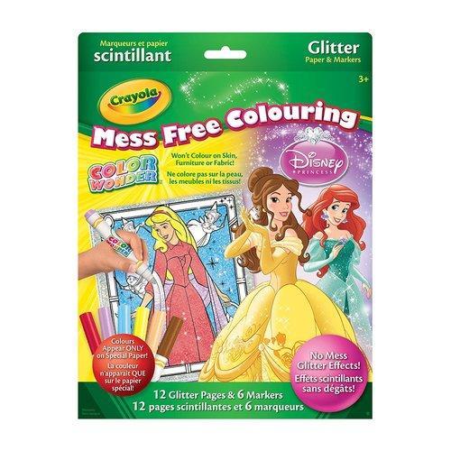 Crayola Color Wonder Glitter Paper Disney Princess