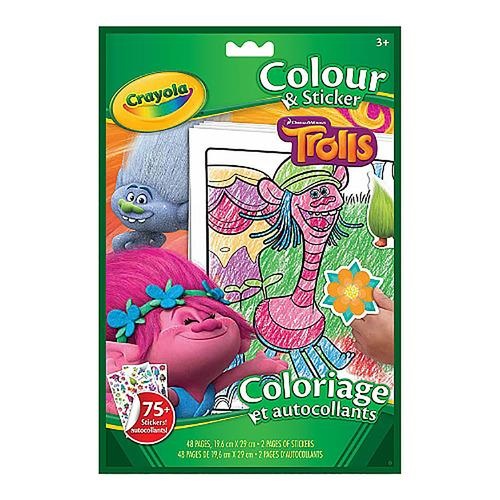 Crayola Colour & Sticker Book Trolls