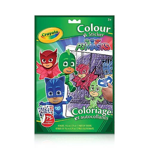 Crayola Colouring & Sticker Book PJ Masks