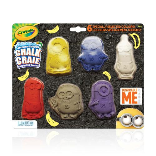 Crayola Despicable Me Sidewalk Chalk - The Minions!