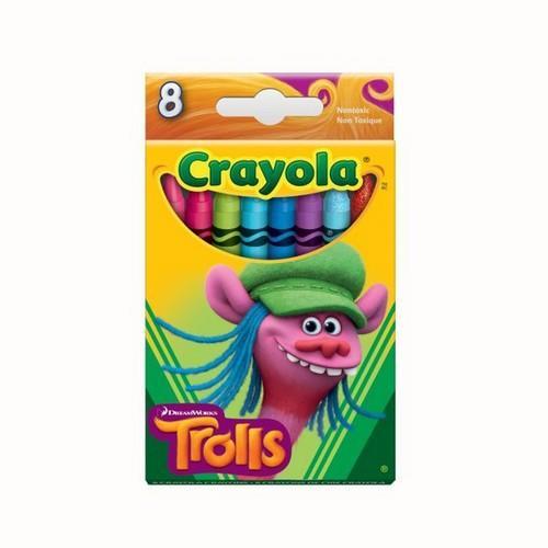 Crayola Trolls - Cooper 8 ct Crayons