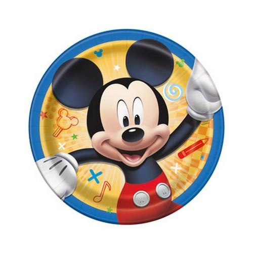 Mickey and the Roadster Racers 7 Inch Plates [8 Per Package]