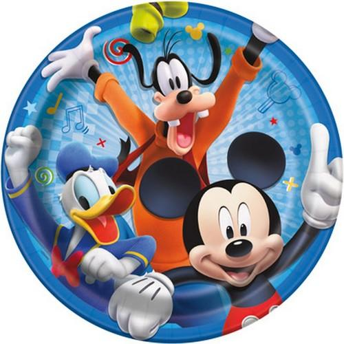 Mickey and the Roadster Racers 9 Inch Plates [8 Per Package]