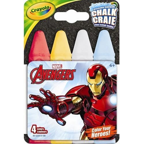 Crayola Avengers Washable Sidewalk Chalk - 4 Pieces
