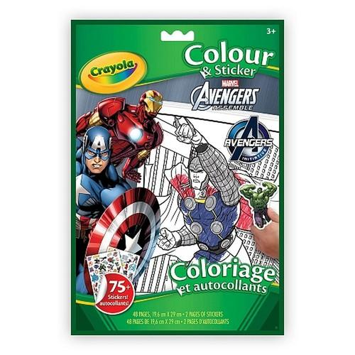 Crayola Avengers Colour & Sticker Book