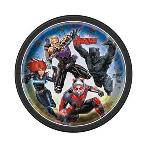 Marvel's Avengers 7 Inch Round Plates [8 Per Package]