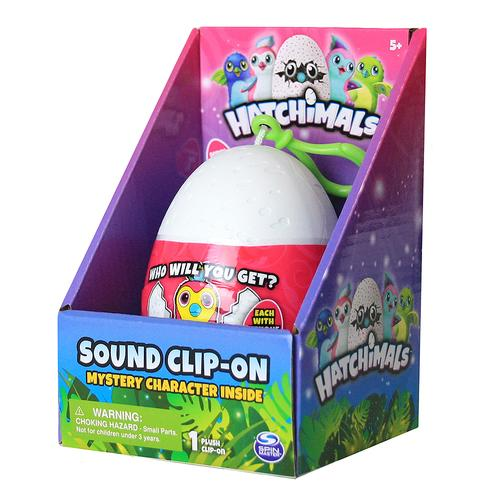 Hatchimals Sound Clip-On - Mystery Character Inside - 1 Plush Inside - Series 1