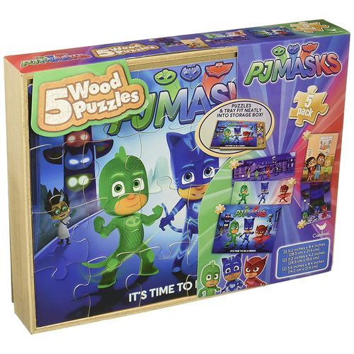 PJ Masks 5-Wood Puzzle Pack