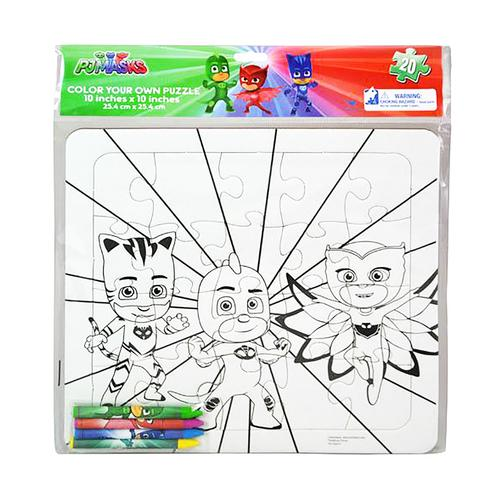 PJ Masks Color-Your-Own Puzzle with Crayons