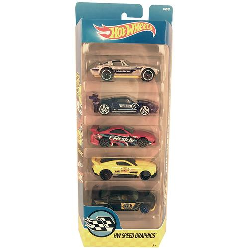 Hot Wheels HW Speed Graphics - 5 Pack