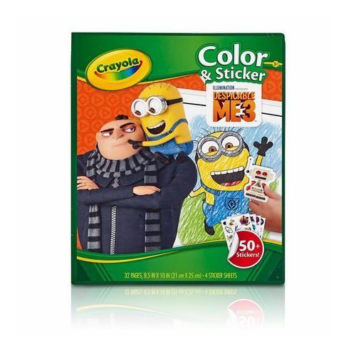 Crayola Despicable Me 3 Colour & Sticker Book