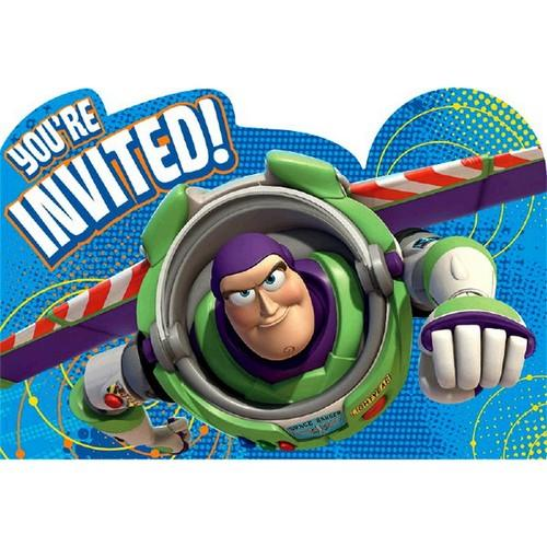 Toy Story Power Up Party Invitations [8 per Pack]