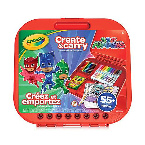 Crayola - PJ Masks Create and Carry Case - More than 55 Pieces