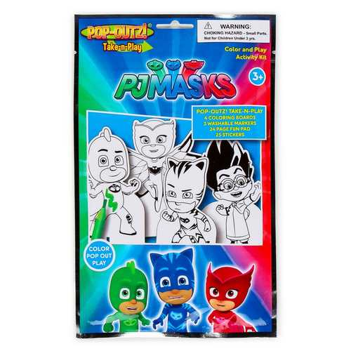 PJ Masks Pop-Outz Take-n-Play Color Pop Out