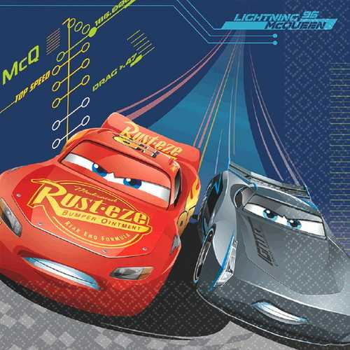 Cars 3 Luncheon Napkins [16 Napkins Per Pack]